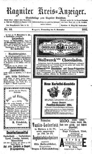 Ragniter Kreis-Anzeiger vom 02.11.1893