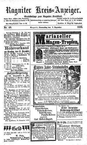 Ragniter Kreis-Anzeiger vom 07.12.1893