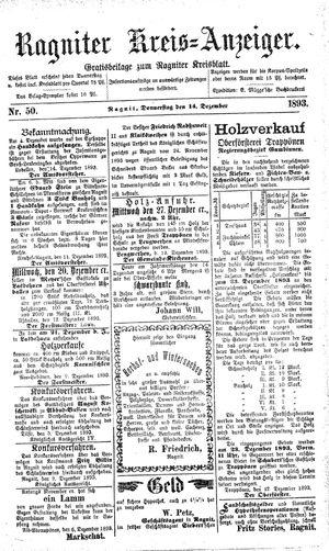 Ragniter Kreis-Anzeiger vom 14.12.1893