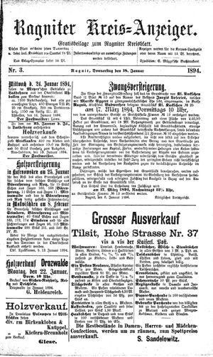 Ragniter Kreis-Anzeiger vom 18.01.1894