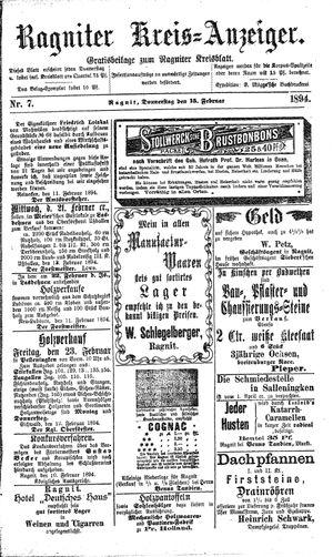 Ragniter Kreis-Anzeiger vom 15.02.1894