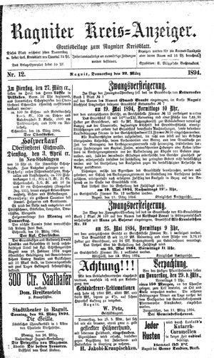 Ragniter Kreis-Anzeiger vom 22.03.1894