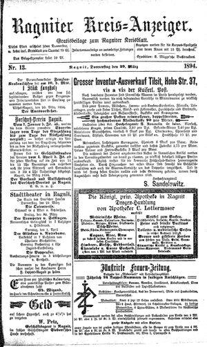 Ragniter Kreis-Anzeiger vom 29.03.1894