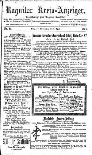 Ragniter Kreis-Anzeiger vom 05.04.1894