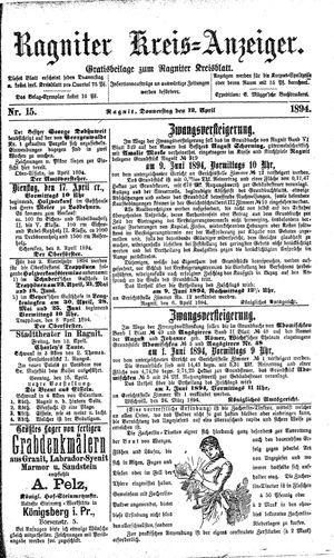 Ragniter Kreis-Anzeiger vom 12.04.1894