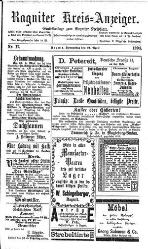 Ragniter Kreis-Anzeiger vom 26.04.1894