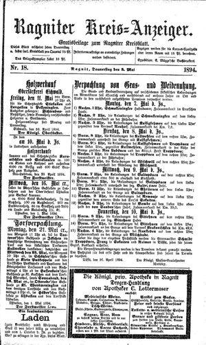 Ragniter Kreis-Anzeiger vom 03.05.1894
