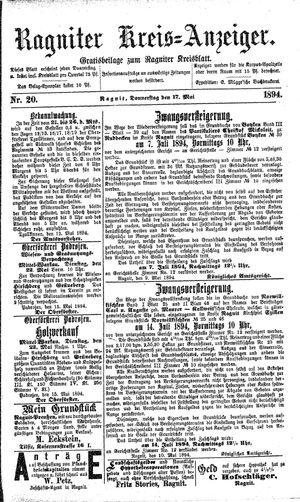 Ragniter Kreis-Anzeiger vom 17.05.1894