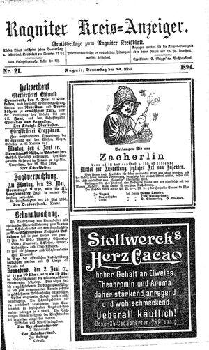 Ragniter Kreis-Anzeiger vom 24.05.1894