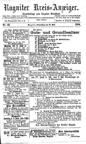 Ragniter Kreis-Anzeiger vom 31.05.1894