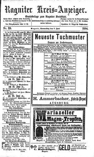 Ragniter Kreis-Anzeiger vom 07.06.1894
