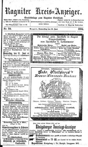Ragniter Kreis-Anzeiger vom 14.06.1894