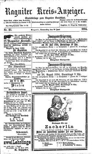 Ragniter Kreis-Anzeiger vom 21.06.1894
