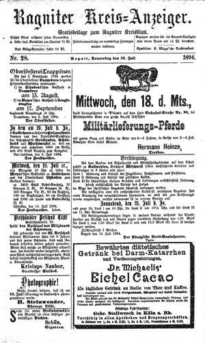 Ragniter Kreis-Anzeiger vom 12.07.1894