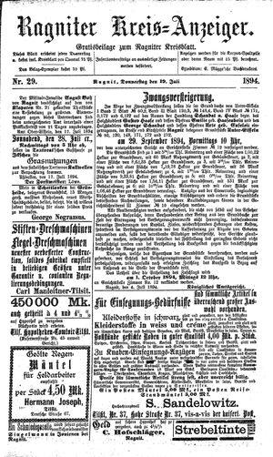 Ragniter Kreis-Anzeiger vom 19.07.1894