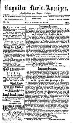Ragniter Kreis-Anzeiger vom 26.07.1894
