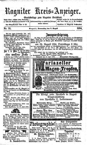 Ragniter Kreis-Anzeiger vom 02.08.1894