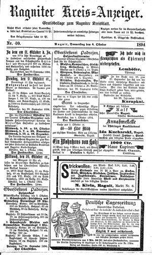 Ragniter Kreis-Anzeiger vom 04.10.1894