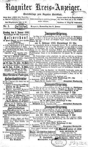 Ragniter Kreis-Anzeiger vom 03.01.1895