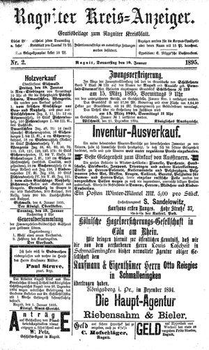 Ragniter Kreis-Anzeiger vom 10.01.1895
