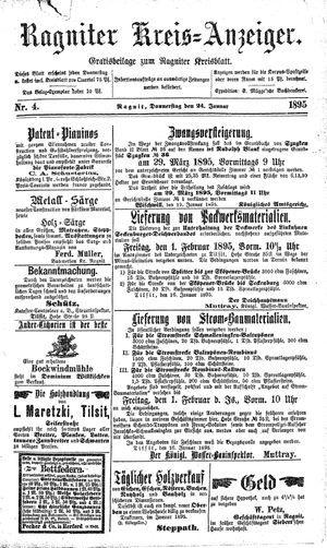 Ragniter Kreis-Anzeiger vom 24.01.1895