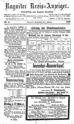 Ragniter Kreis-Anzeiger vom 07.02.1895