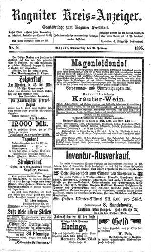 Ragniter Kreis-Anzeiger vom 21.02.1895