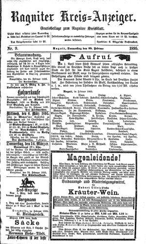 Ragniter Kreis-Anzeiger vom 28.02.1895