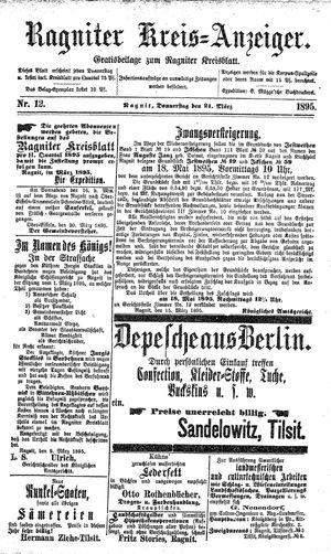 Ragniter Kreis-Anzeiger vom 21.03.1895