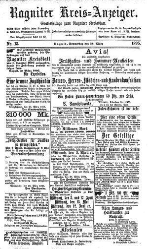 Ragniter Kreis-Anzeiger vom 28.03.1895