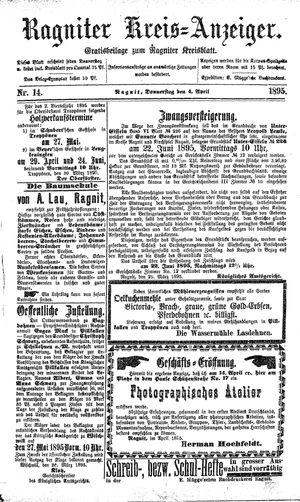 Ragniter Kreis-Anzeiger vom 04.04.1895