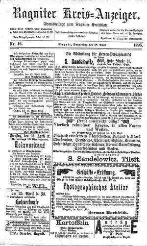 Ragniter Kreis-Anzeiger vom 18.04.1895