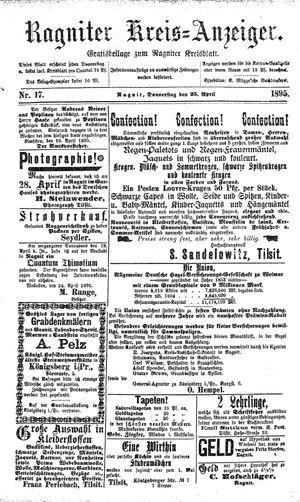 Ragniter Kreis-Anzeiger on Apr 25, 1895