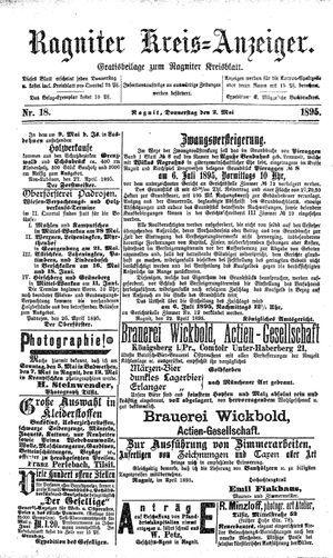 Ragniter Kreis-Anzeiger vom 02.05.1895