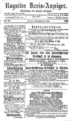 Ragniter Kreis-Anzeiger vom 09.05.1895