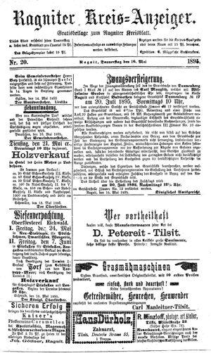 Ragniter Kreis-Anzeiger vom 16.05.1895