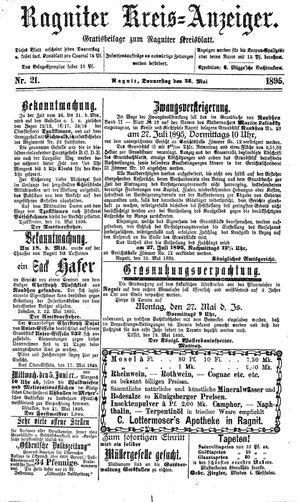 Ragniter Kreis-Anzeiger vom 23.05.1895
