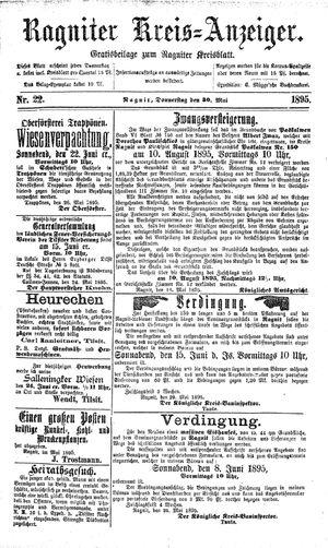 Ragniter Kreis-Anzeiger vom 30.05.1895