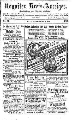 Ragniter Kreis-Anzeiger vom 06.06.1895