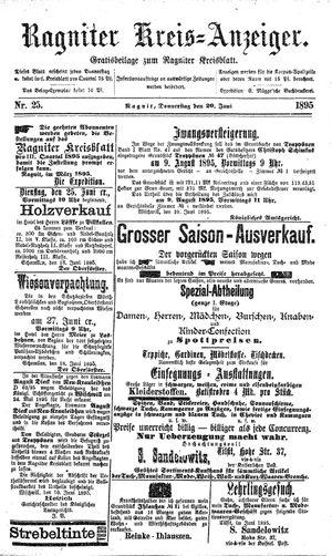 Ragniter Kreis-Anzeiger vom 20.06.1895