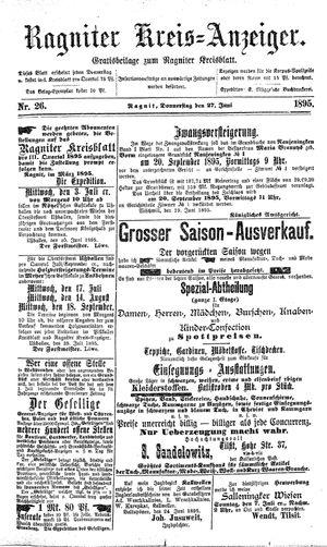 Ragniter Kreis-Anzeiger vom 27.06.1895