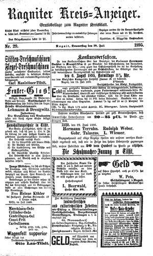 Ragniter Kreis-Anzeiger vom 18.07.1895