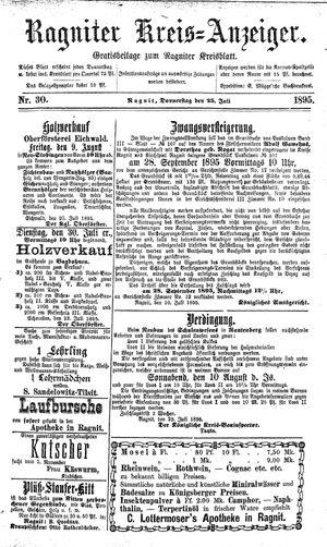 Ragniter Kreis-Anzeiger vom 25.07.1895