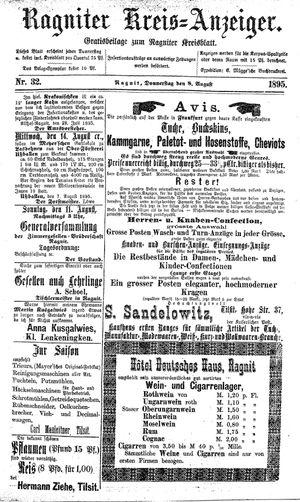 Ragniter Kreis-Anzeiger vom 08.08.1895