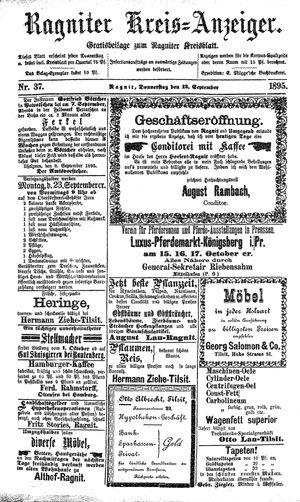 Ragniter Kreis-Anzeiger vom 12.09.1895