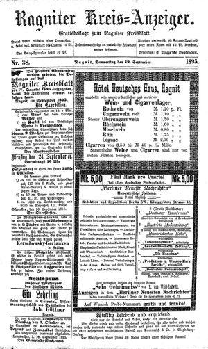 Ragniter Kreis-Anzeiger vom 19.09.1895