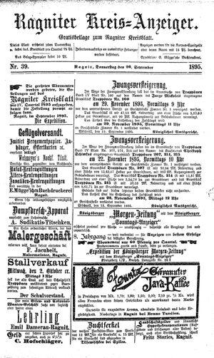 Ragniter Kreis-Anzeiger vom 26.09.1895