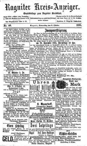 Ragniter Kreis-Anzeiger vom 03.10.1895