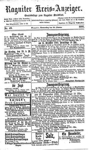 Ragniter Kreis-Anzeiger vom 24.10.1895