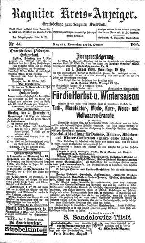 Ragniter Kreis-Anzeiger vom 31.10.1895